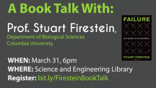 """Image of """"A Book Talk with Prof. Stuart Firestein"""""""