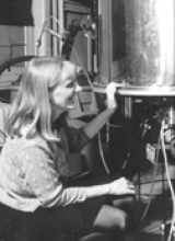 Dr. Ann McDermott is pictured in the lab.